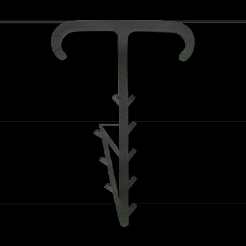 Крепеж плоский Т-образный двойной 2x12x5 черный