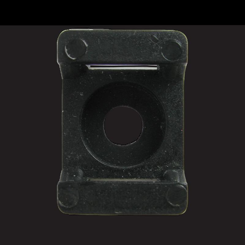 Площадка для стяжки до 8 мм под шуруп черная