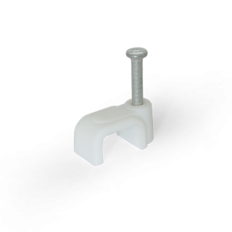Скоба для плоского кабеля 8x4 біла