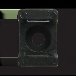 Майданчик для стяжки до 8 мм під шуруп чорний