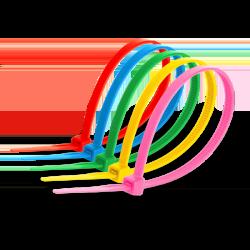 Кабельна стяжка 3х100 кольорова