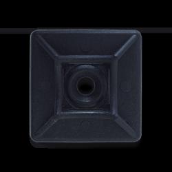 Майданчик для стяжки 29х29мм під шуруп чорний