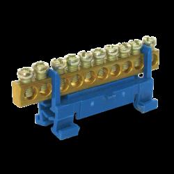 Нулевая шина на DIN рейку 10N